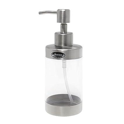 Encimera dispensador de jabón, novedad cuerpo de acrílico, con de acero inoxidable (para