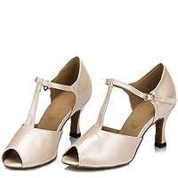 Xcfypiao Calzado De Danza Latino para Mujer,Zapatos De Baile Estándar Estándar De Tacón Alto Y con Tacones Muy Altos,Chacha/Samba/Modern/Jazz Dance