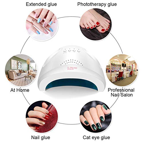 MAGIC ARMOR Nail Dryer 24/48W UV LED Nail Lamp UV Curing Lamp with 3 Timer Setting Auto Sensor for Gel Polish, Bright Painted Surface Easy to Clean (White-48w)