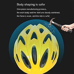 Casque Vélo Casque vélo VTT Vélo vélo Planche à roulettes Scooter Hoverboard Casque de sécurité for l'équitation légère réglable Respirant Casque LQHZWYC (Color : Yellow)