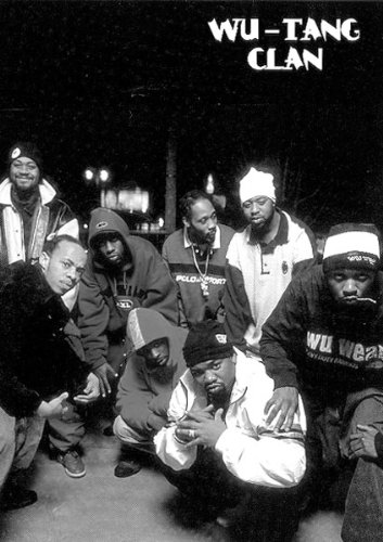 24x36 wu tang clan fuzzy black and white