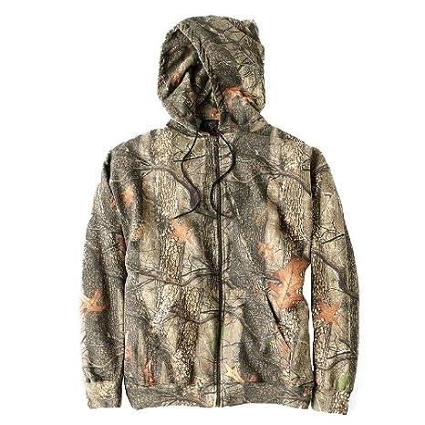 Huntworth Chaqueta de punto de caza para hombre con capucha elástica, hombre, color Oak Tree EVO, tamaño Large: Amazon.es: Deportes y aire libre