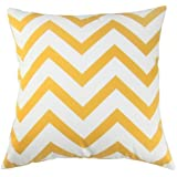 CoolDream Scandinavia Canvas Cotton Chevron Design Decorative Throw Pillow Cover 18 X 18 inch