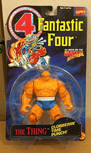 Toy Biz Marvel Fantastic Four Thing (Clobberin Time Punch) Action Figure 4.75 Inches -