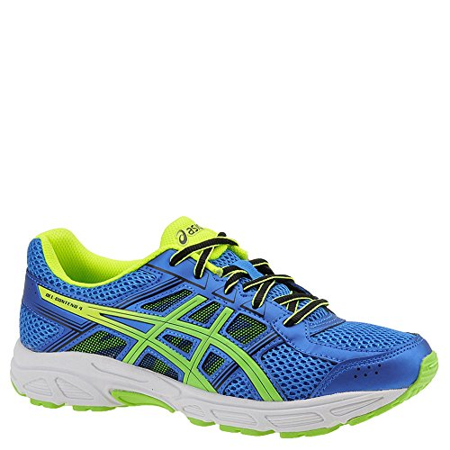 ASICS Unisex-Kids Gel-Contend 4 GS Running-Shoes, Directoire Blue/Green/Safety Yellow, 2 Medium US Big Kid