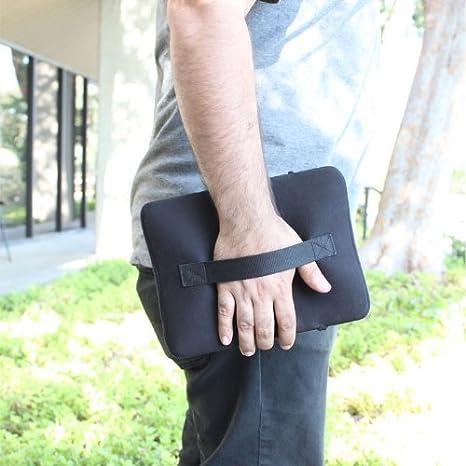 Lenovo Custodia guaina imbottita in neoprene e borsetta da viaggo per tablet con tasca frontale e strap da trasporto per tablet da 10.1 pollici Samsung ProntoTec e molti altri Nero Accessory Power USA Gear