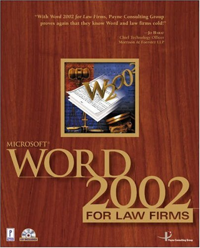 Microsoft Word 2002 for Law Firms w/CD (Miscellaneous)