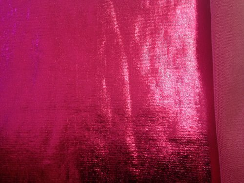Foil Metallic Spandex Hot Pink 60 Inch Fabric By the Yard (F.E.®)