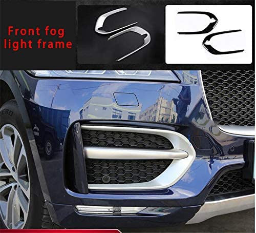 muchkey Car Interior Accessories for Jaguar f-pace Front Fog lamp Cover Chrome molding Trim 2pcs