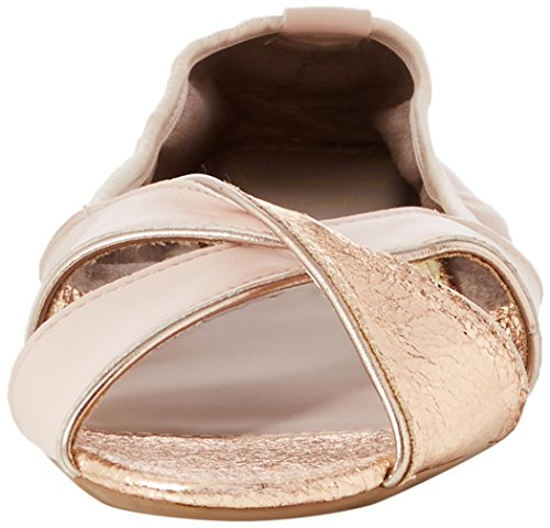Butterfly Twists Women's Amelia Open Toe Ballet Flats Pink (Soft Pink) 3fdwvA5t