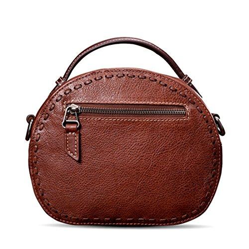 in colore marrone da Olprkgdg pelle tracolla borsa Retrò donna marrone a diagonale mano wqvYPvg