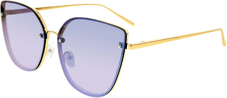 Quay Eyeware Australia Damen Sonnenbrille Lexi, Gold/Purple, 140