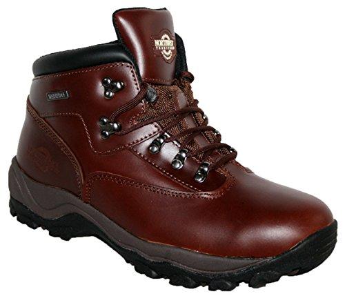 MENS INUVIK FULLY WATERPROOF LACE UP WALKING/HIKING TREKKING BOOT CHERRY 9