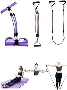 Pedal de pie Cuerda elástica multifunción para Ejercicios de Fitness, Abdominales, Cintura, Brazo, Pierna, Adelgazamiento, Entrenamiento, tensión, ...