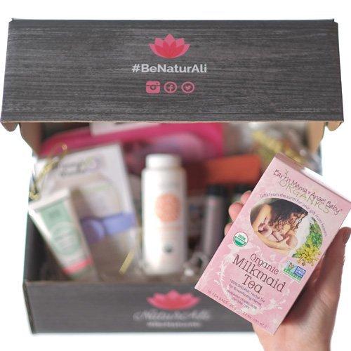 NATURALI Pregnancy Gift Box I Trimester 4 I Largest Trimester Box on Amazon I Guaranteed two day shipping on ALL orders I No need to have Prime