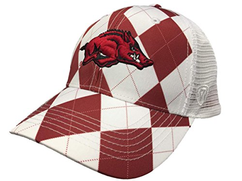 - Top of the World Arkansas Razorbacks Tow Red White Arguile Get Loud Mesh Adjustable Golf Hat Cap