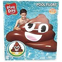 Play Day Inflatable Emoji Poop Float (Brown)