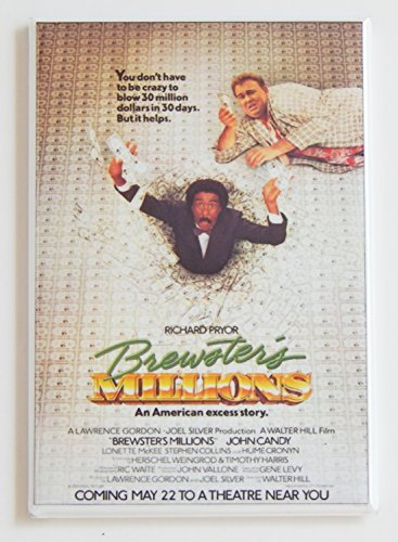 Brewster's Millions Movie Poster Fridge Magnet (2.5 x 3.5 inches)