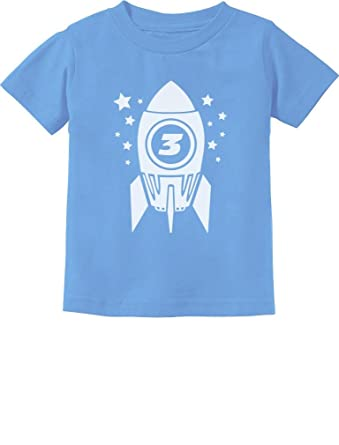 b45459cd6 Tstars Gift For Three Year Old 3rd Birthday Space Rocket Toddler/Infant  Kids T-