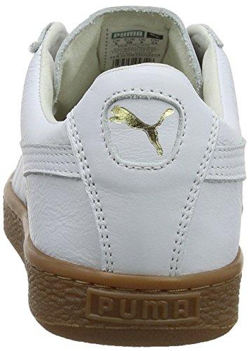 Deluxe Mixte Basket Adulte Puma Sneakers Blanc Basses Classic White Gum Puma 02 metallic Gold CHYdwqtt