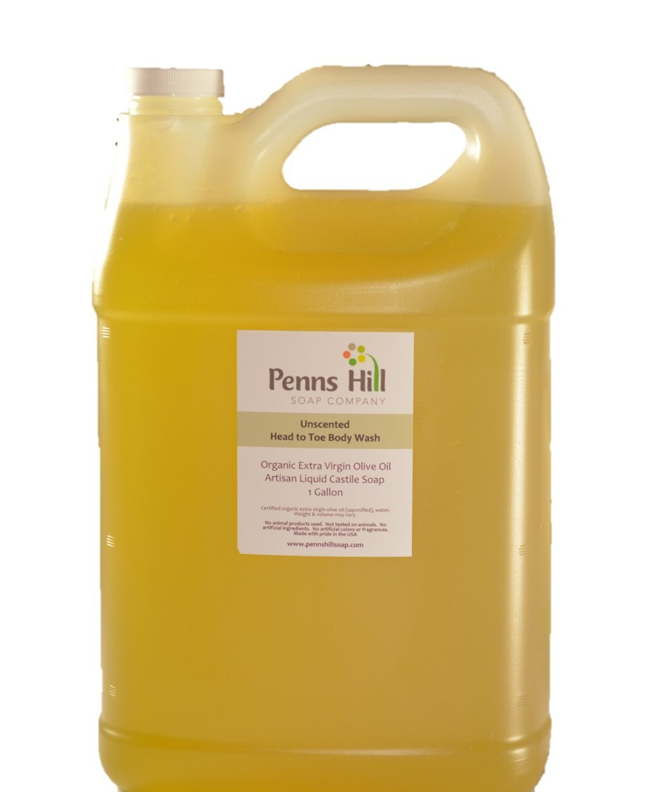 Liquid Organic Olive Oil Castile Soap Unscented - Gallon