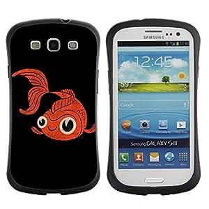 Hybrid Anti-Shock Bumper Case for Samsung Galaxy S3 / GoldFish