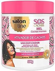 Linha Tratamento (SOS Cachos) Salon Line - Ativador de Cachos Mel Cachos Intensos 500 Gr - (Salon Line Treatment (SOS Curls) Collection - Intense Curls Honey Curl Activator Net 520ml)