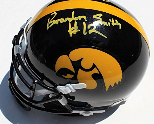 - Brandon Smith Signed Iowa Hawkeyes Mini Football Helmet w/COA C - Autographed NHL Helmets and Masks