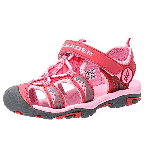 Image of the ALEADER Kids Youth Sport Water Hiking Sandals (Toddler/Little Kid/Big Kid) Pink 4 M US Big Kid