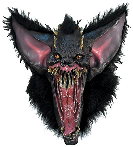[Rubie's Costume Co Men's Gruesome Bat Deluxe Latex Mask, Multi, One Size] (Gruesome Bat Mask)