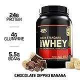 OPTIMUM NUTRITION Gold Standard 100% Whey Protein Powder, Chocolate Dipped Banana 2 Pound