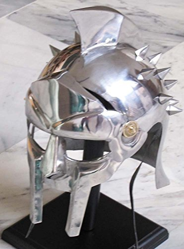 Gladiator Helmet Replica - Antique Replica Full-Size Metal Gladiator Maximus Arena Helmet