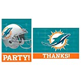 """""""Miami Dolphins Collection"""" Invitations & Thank You Card Sets"""