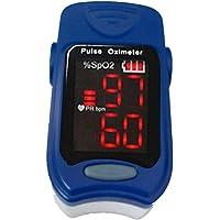 CHTAI Saturación de Oxígeno y Monitor de Ritmo Cardíaco con Pantalla LED para Uso Deportivo, Azul