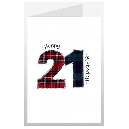 Originales bordadas Wee deseos 21st cumpleaños tarjeta ...