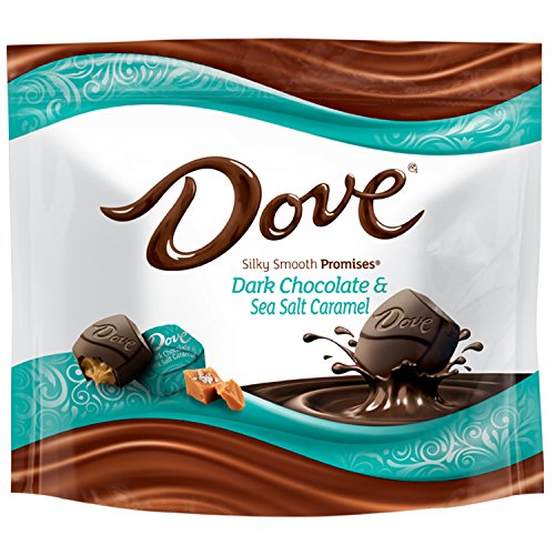 Wrappers Mom Candy (Dove PROMISES Sea Salt & Caramel Dark Chocolate Candy 7.61-Ounce Bag (Pack of 8))