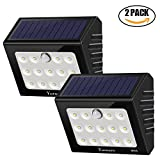 Solar Lights Outdoor Motion Sensor Yurnero Super Bright 14 LED Solar Powered Security Lights with Nanomaterial Reflector for Front Door Step Deck Patio Pathway Waterproof 2 Pack
