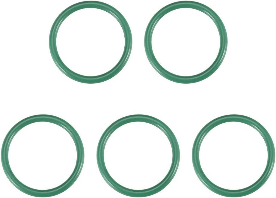 2mm Breit Dichtung gr/ün 10mmx14mmx2mm sourcing map 5 St/ück Fluorkautschuk O-Ringe 10-23 mm Innendurchm