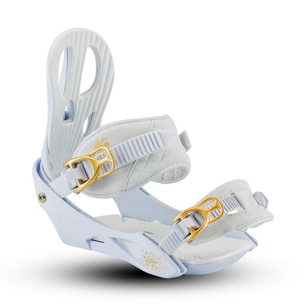 Nitro Rhythm Snowboard Bindings Womens White Gold//Small