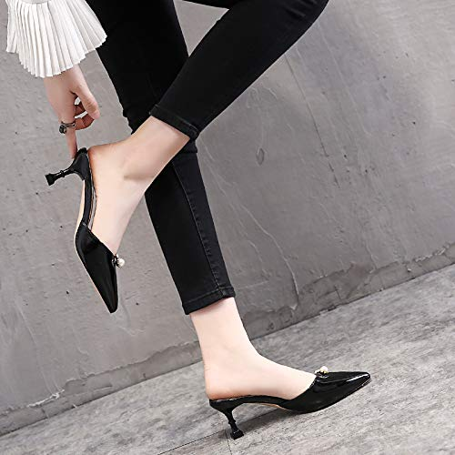 Word Sexy Thin Six High Slippers A Fashion And Wear Cool Small Slippers Pointed Heel Summer Color Naked In Thirty Heels Sharp KPHY Shoes 6Cm YqTfY6