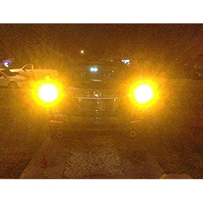 ENDPAGE 3157315630573056 LEDBulb2-pack, Amber Yellow, ExtremelyBright, 21-SMD with Projector Lens, 12-24V,Works asTurnSignalBlinker Lights: Automotive