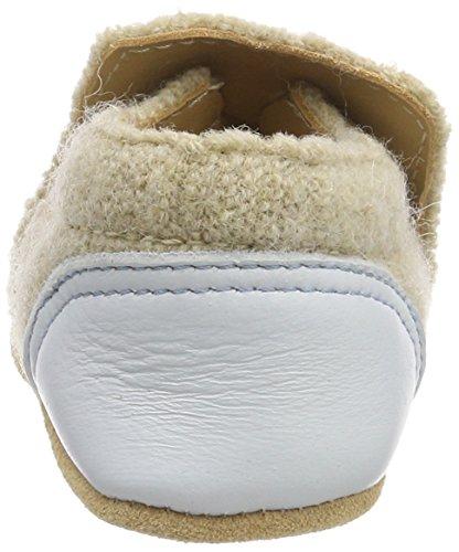 Haflinger Unisex Baby Leinen Los Hausschuhe Beige (Beige)