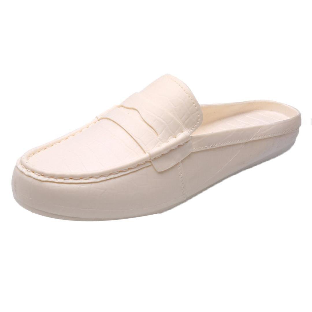 Mens Shoes For Summer Anshinto Plastic Lazy Men Sandals Half Slipper Sandals Outdoor Casual Summer Shoes