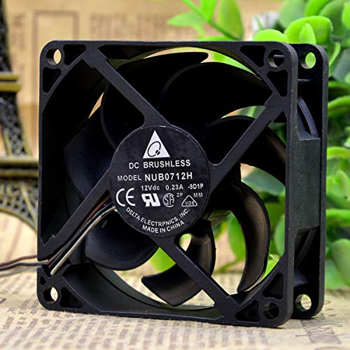 for Delta NUB0712H 7CM 12V 0.23A 7025 Projector Cooling Fan 3-Wire B2 Connector