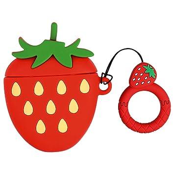 GTWCK Funda para AirPods con Forma de Fruta, Silicona Suave ...