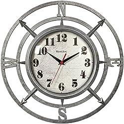WESTCLOX 32021C 14 Round Compass Wall Clock PET2