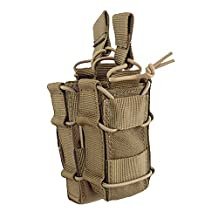 SUNVP Military Tactical Molle Open-Top Pistol Double Stacker Magazine Pouch Holder M4 Mag Pouch