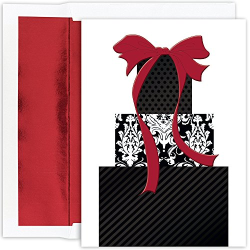 Great Papers! Holiday Greeting Card, Damask Packages, 16 ...