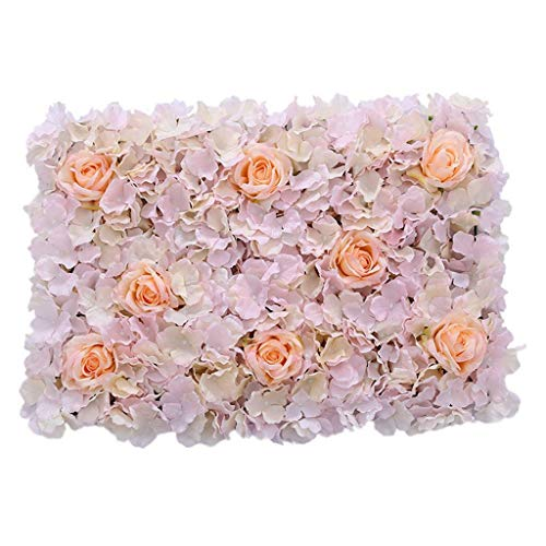 - Romantic Artificial Flowers Wall Panel Wedding Site Venue Hanging Floral Decor |Color - Champagne Thicker|