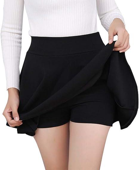 DAHDXD Falda Corta Plisada de Primavera para Mujer Mini Tutu Falda ...